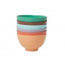 RICE 6 Small Melamine Bowls FOLLOW THE CALL OF THE DISCO BALL