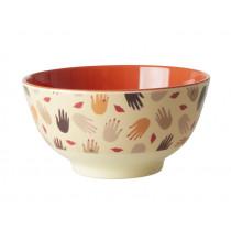 RICE Melamine Bowl HANDS & KISSES