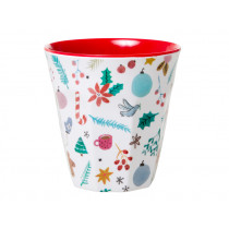 RICE Melamine Cup Christmas ALL OVER XMAS