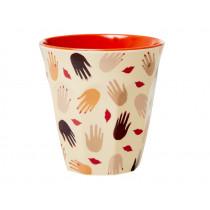 RICE Melamine Cup HANDS & KISSES