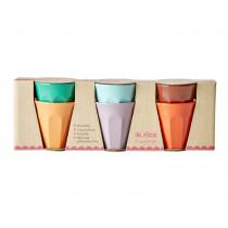 RICE 6 Melamine Espresso Cups FOLLOW THE CALL OF THE DISCO BALL