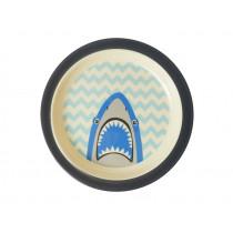 RICE Melamine Kids Plate SHARK