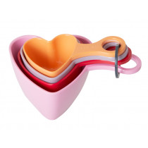 RICE Melamine MEASURING CUPS in Heart Shape