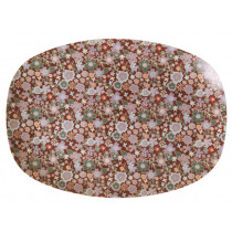 RICE small rectangular plate FALL FLORAL