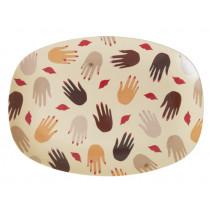 RICE small rectangular plate HANDS & KISSES
