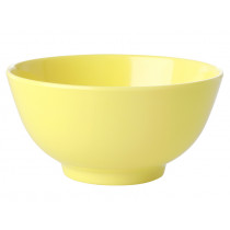 RICE Melamine Bowl LET'S SUMMER light yellow