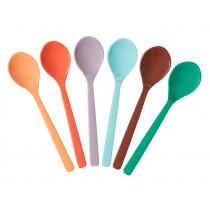 RICE 6 Melamine Teaspoons FOLLOW THE CALL OF THE DISCO BALL Colors