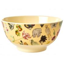 RICE Melamine Bowl ART PRINT creme