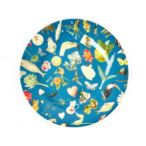 RICE Melamine Side Plate ART PRINT blue