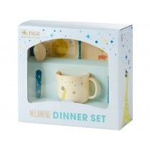 RICE melamine set gift box space animal print boys