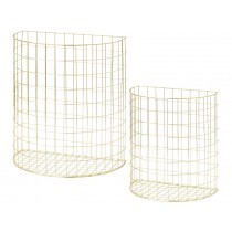 RICE half circle wire basket gold