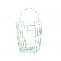 RICE round wire basket jade
