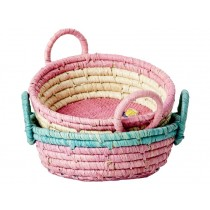 RICE 2 Round Mini Baskets BUTTERFLY