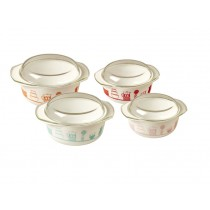 RICE Opalware Glass Oven Dish with Lid
