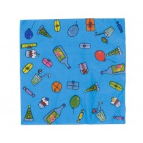 Happy birthday napkins in turquoise by RICE Denmark