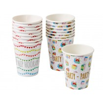 RICE paper cups birthday prints