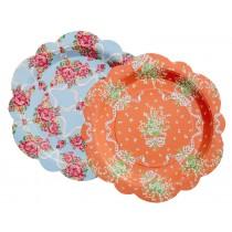RICE paper plates vintage look