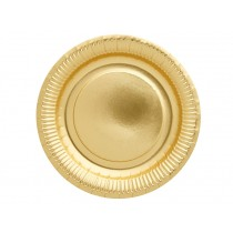RICE 8 Paper Party Plates gold