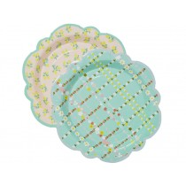 RICE paper plates flower shape
