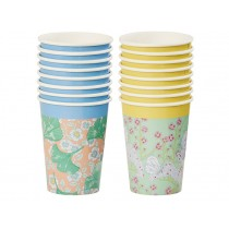 RICE Paper Cups Butterflies and Flowers & Gingko