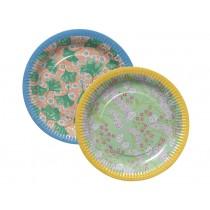 RICE Paper Plates Butterflies and Flowers & Gingko