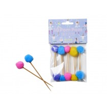 RICE 10 Party Picks with Pompoms