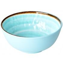 RICE Melamine Bowl with Swirl AQUA