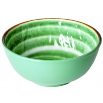RICE Melamine Bowl with Swirl GREEN