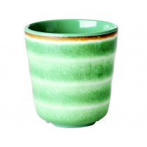 RICE Melamine Cup with Swirl GREEN