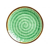 RICE Melamine Side Plate with Swirl GREEN