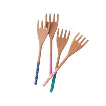 RICE salad fork with printed handle