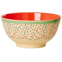 RICE melamine bowl connecting the dots print
