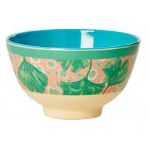 Small RICE melamine bowl gingko and flower print