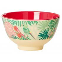 Small RICE melamine bowl tropical print