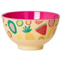 Small RICE melamine bowl tutti frutti print