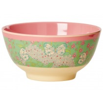RICE melamine bowl butterfly and flower print