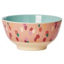 RICE melamine bowl coral dapper dot print