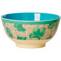 RICE melamine bowl gingko and flower print