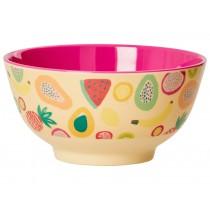 RICE melamine bowl tutti frutti print