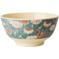 RICE Melamine Bowl AUTUMN FLOWERS