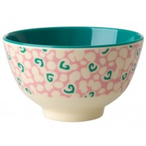 RICE Melamine Bowl with Liquid Spots small