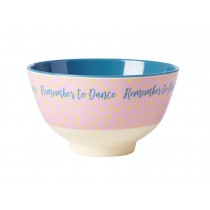 RICE Small Melamine Bowl REMEMBER TO DANCE