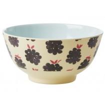 RICE Melamine Bowl BLACKBERRIES