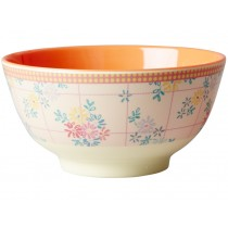 RICE melamine bowl embroidered flowers