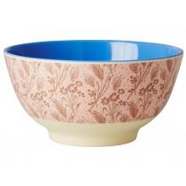 RICE melamine bowl flower field
