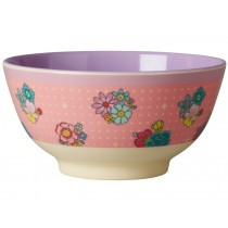 RICE melamine bowl flower stitch