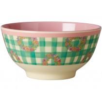 RICE melamine bowl vichy print