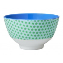 Small RICE melamine bowl stars green