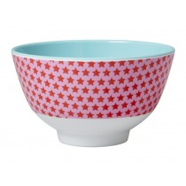 Small RICE melamine bowl stars red