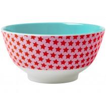 RICE melamine bowl stars red